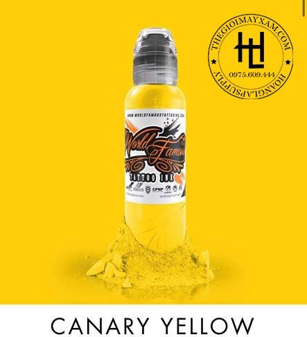 MỰC XĂM WORLD FAMOUS CANARY YELLOW  ( 15ml )