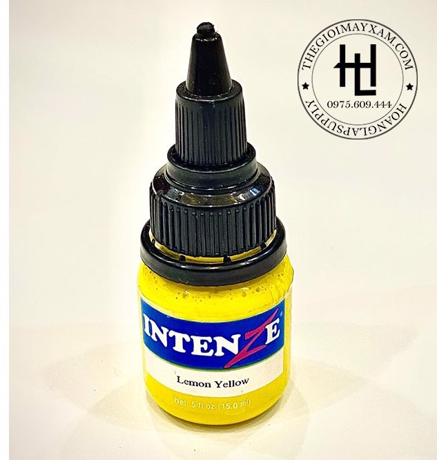 MỰC XĂM HÌNH INTENZE LEMON YELLOW ( 15ml )