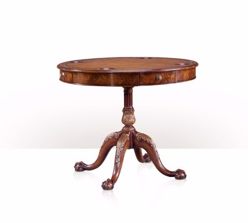 5200-026 Table - Bàn A mahogany circular leather inset drum top games table