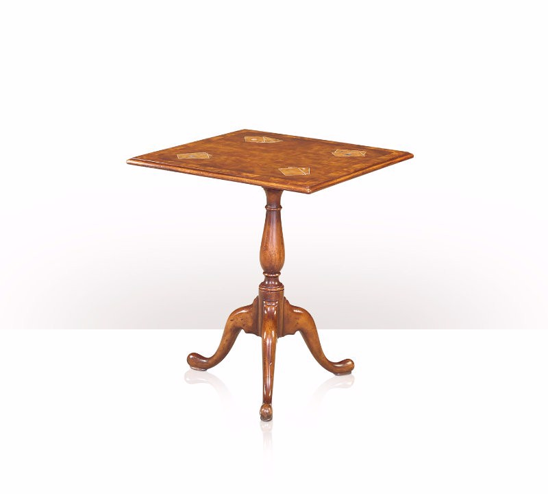 5005-404 Table - Bàn A mahogany and crossbanded rectangular tripod lamp table
