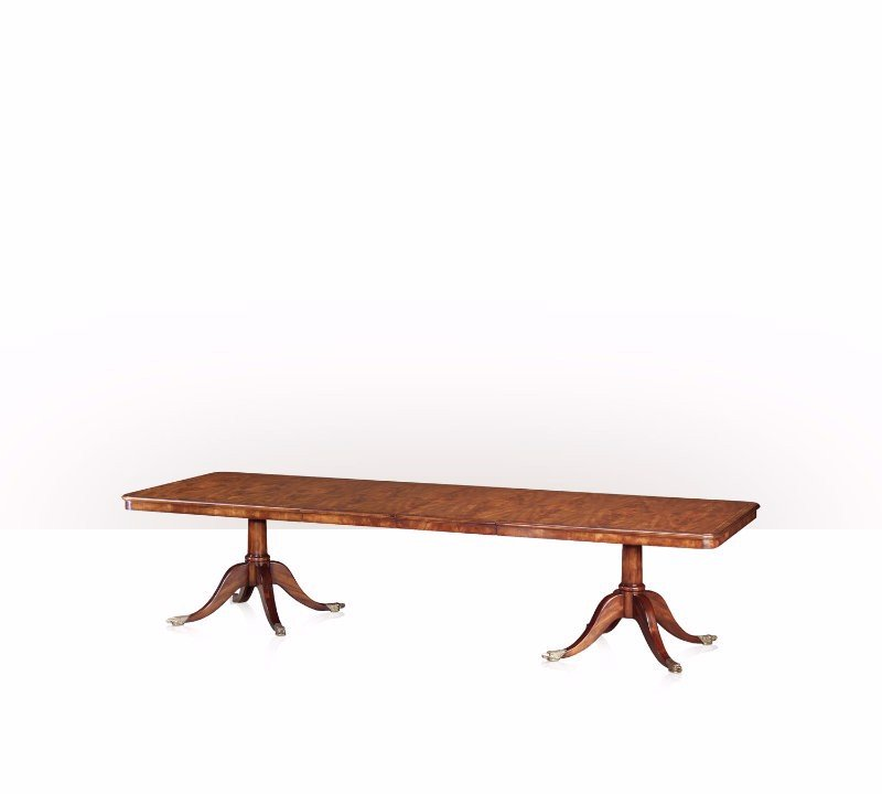 5405-124 Table - Bàn A mahogany twin pedestal extending dining table