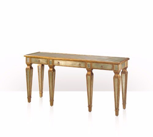 5352-002 Table - Bàn A verre églomisé silvered and gilt console table