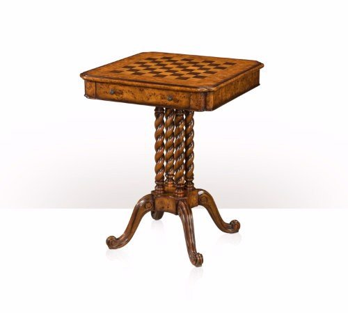 5205-016 Table - Bàn A poplar burl games table