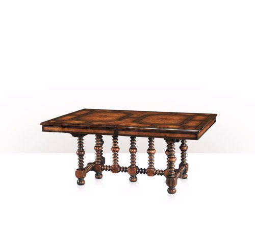 5405-085 Table - Bàn A walnut, burl and parquetry extending dining table