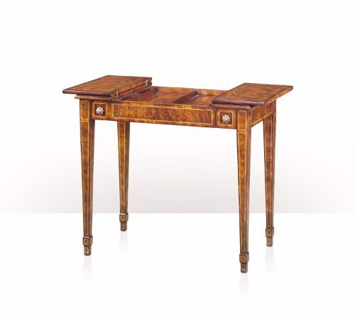 5205-059 Table - Bàn A finely brass inlaid laurel burl and mahogany games table