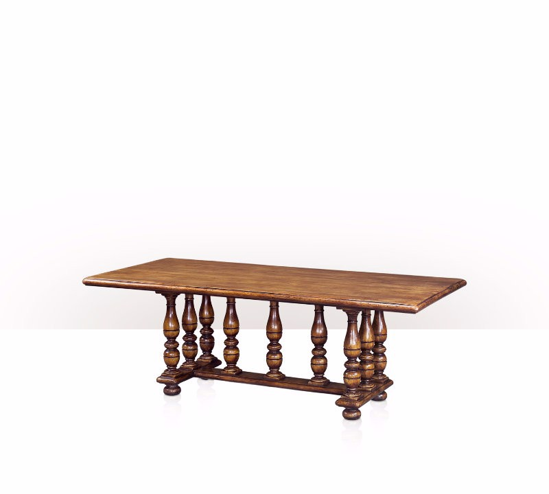 5400-084 Table - Bàn A Country honey teak refectory or dining table