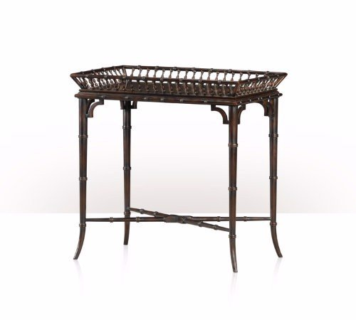 5002-235 Table - Bàn A Chocolate Chinoiserie imbuya and hand painted tray table