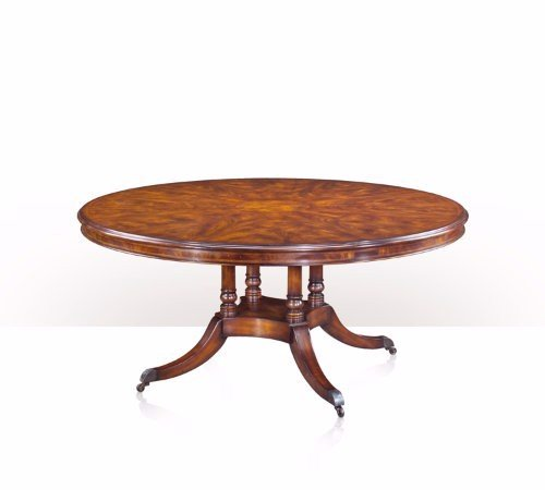 5405-038 Table - Bàn A cerejeira and burl inlay circular dining table