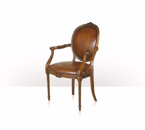 4100-023 Chair - ghế A hand carved Neo-classical open armchair after Adam