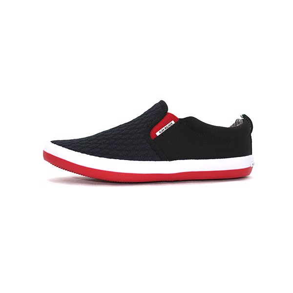 Giày Alan Walker Slip On Platform Mesh Đen