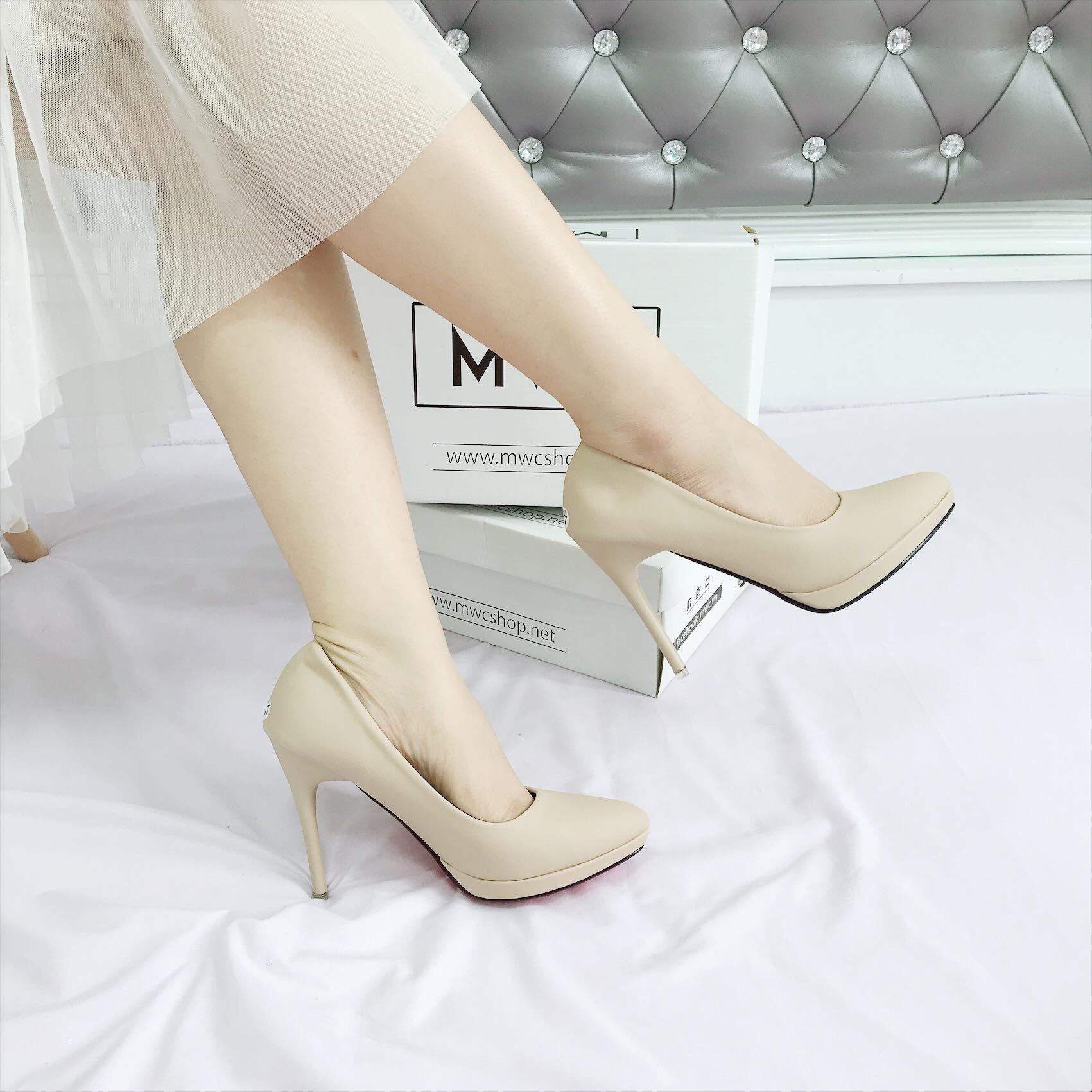 Giày cao gót MWC NUCG- 3668 - KEM
