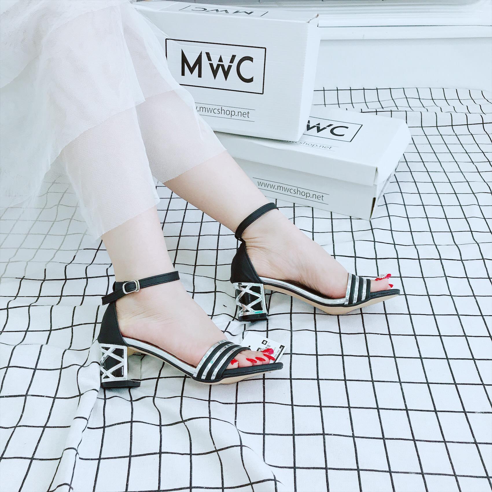 Giày cao gót MWC NUCG- 3677 - BẠC
