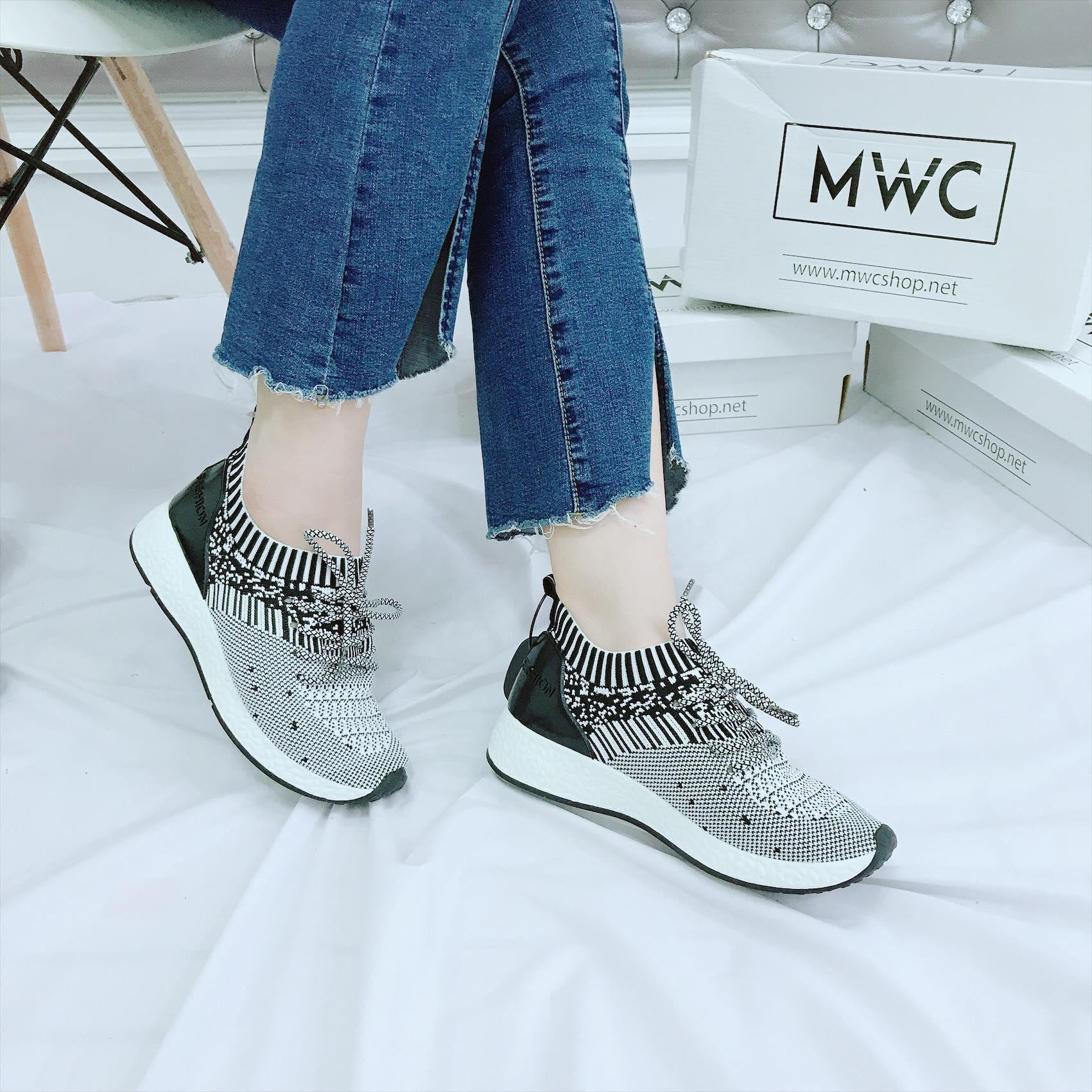 Giày thể thao nữ MWC NUTT- 0184 - XÁM