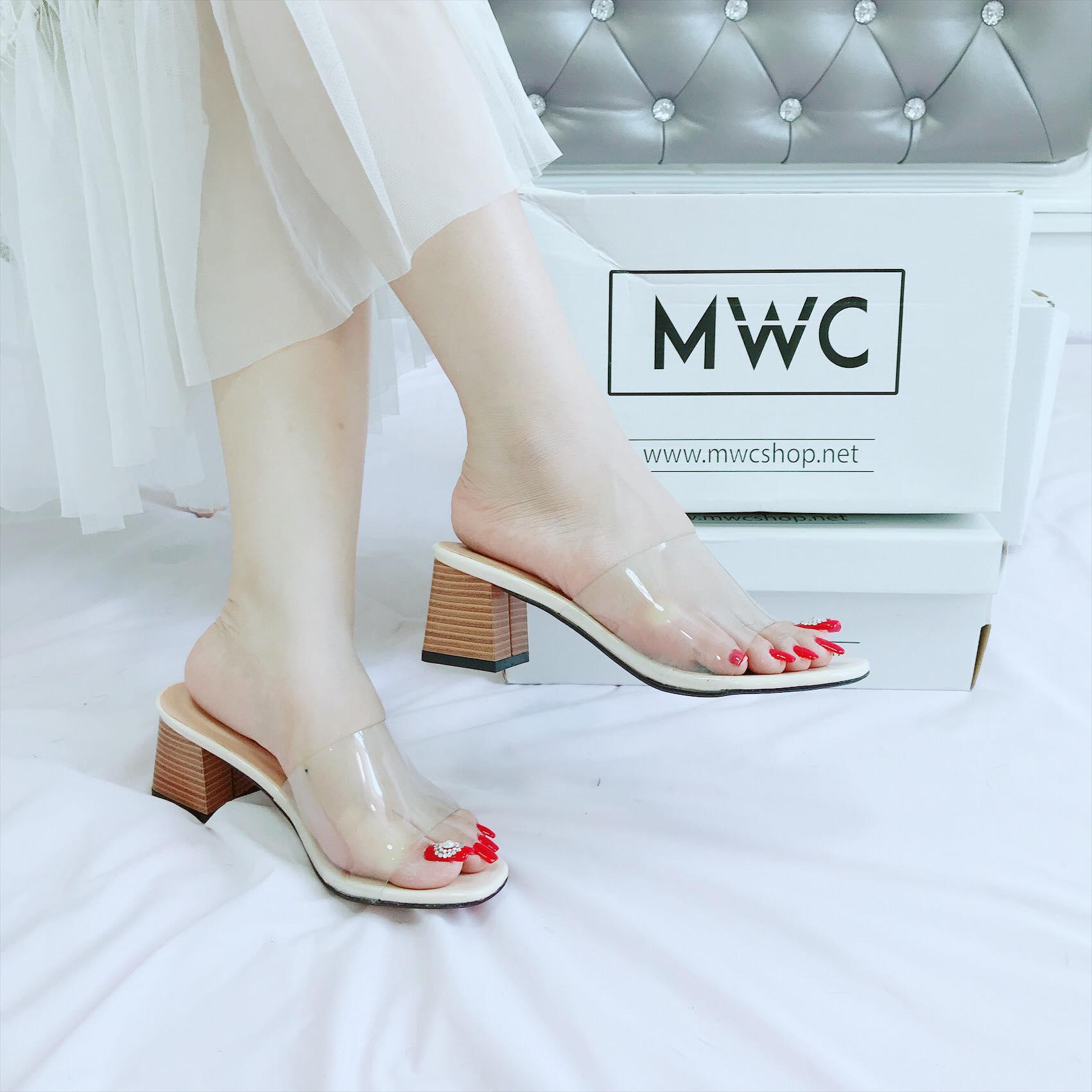 Giày cao gót MWC NUCG- 3678 - KEM