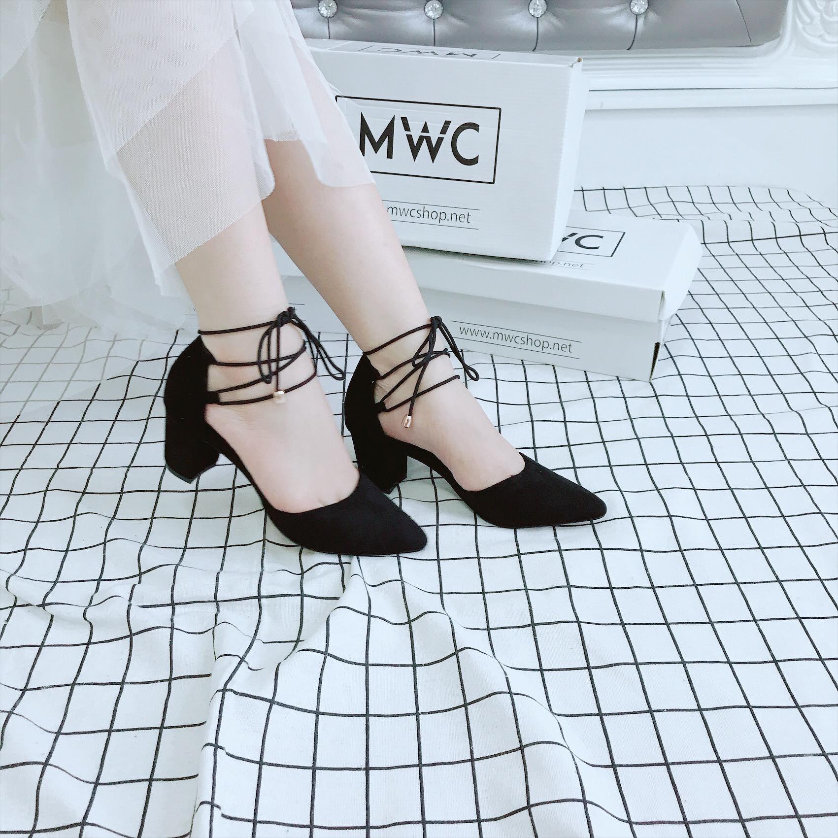 Giày cao gót MWC NUCG- 3682 - ĐEN