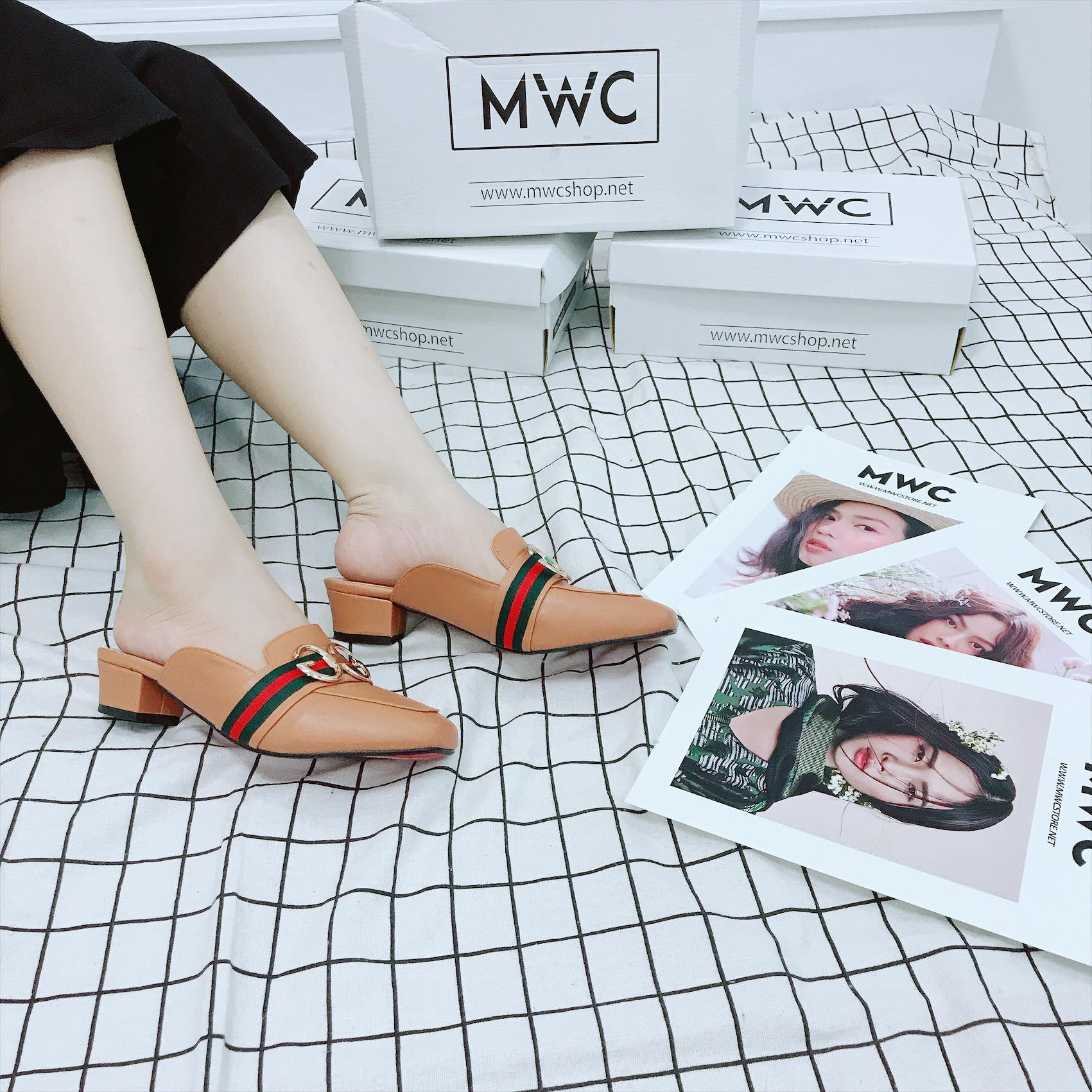 Giày cao gót MWC NUCG- 3688 - NÂU