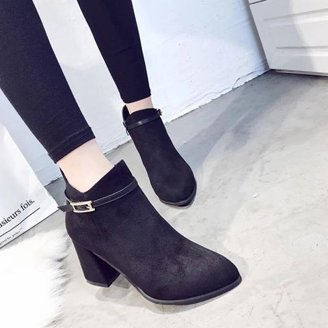 Giày boot nữ MWC NUBO- 4010 - ĐEN