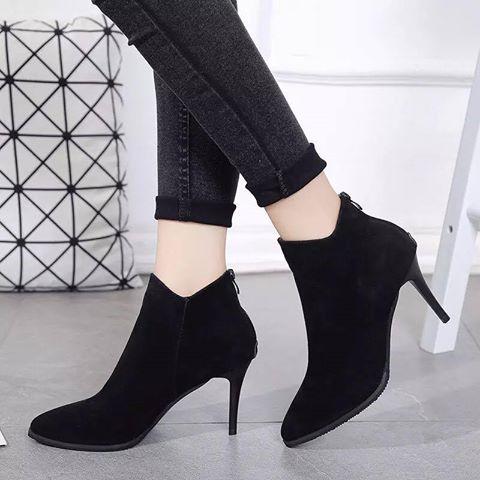 Giày boot nữ MWC NUBO- 4003 - ĐEN