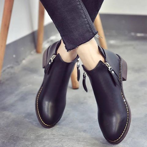 Giày boot nữ MWC NUBO- 4002 - ĐEN
