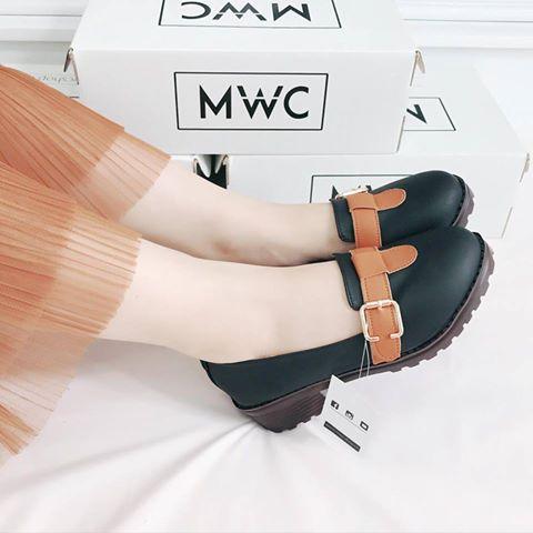 Giày Oxford MWC NUOX- 4506 - ĐEN
