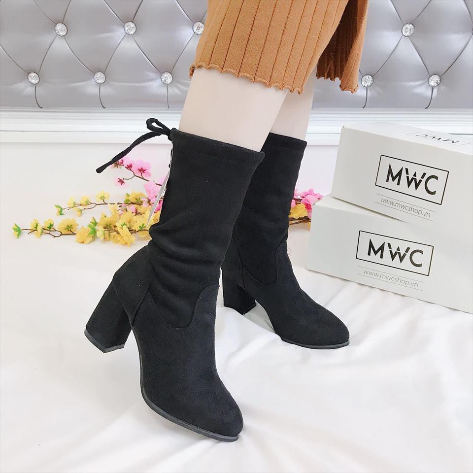 Giày boot nữ MWC NUBO- 4041 - ĐEN
