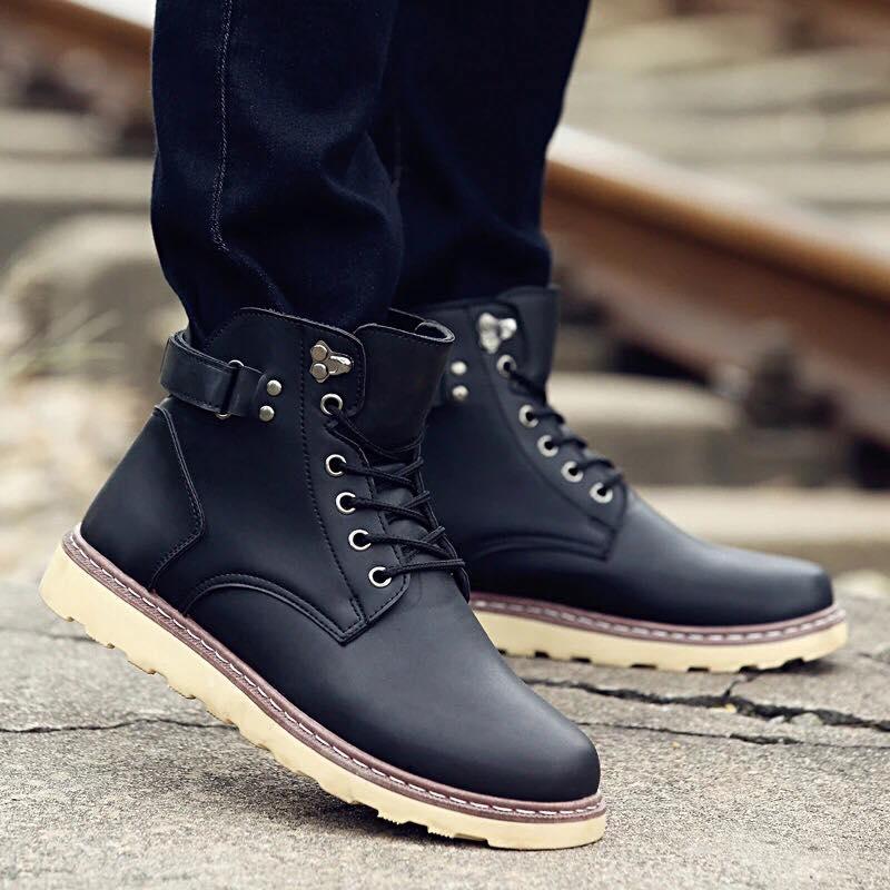 Giày boot nam MWC NABO- 8003 - Đen