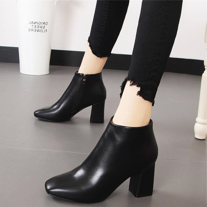 Giày boot nữ MWC NUBO- 4015 - ĐEN