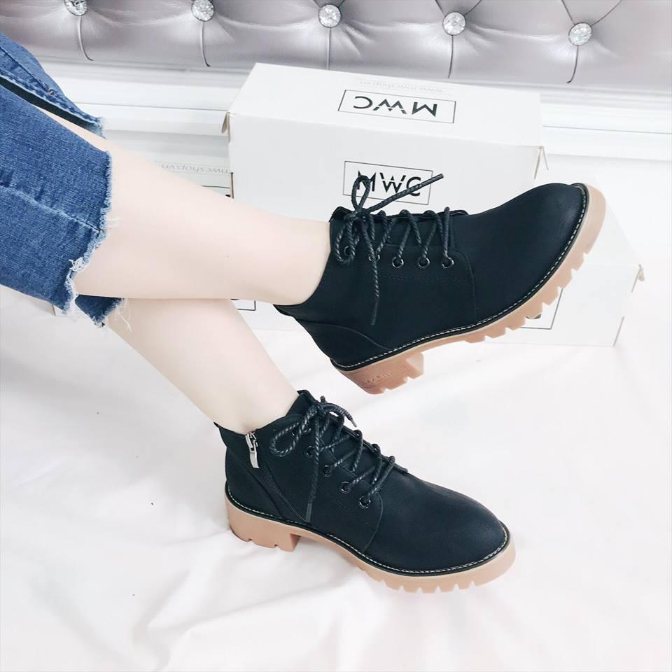 Giày boot nữ MWC NUBO- 4009 - ĐEN