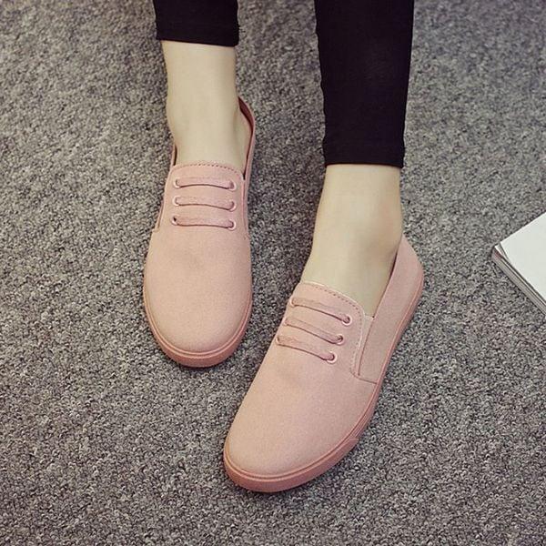 Giày Slipon nữ MWC NUSL- 1502 - HỒNG