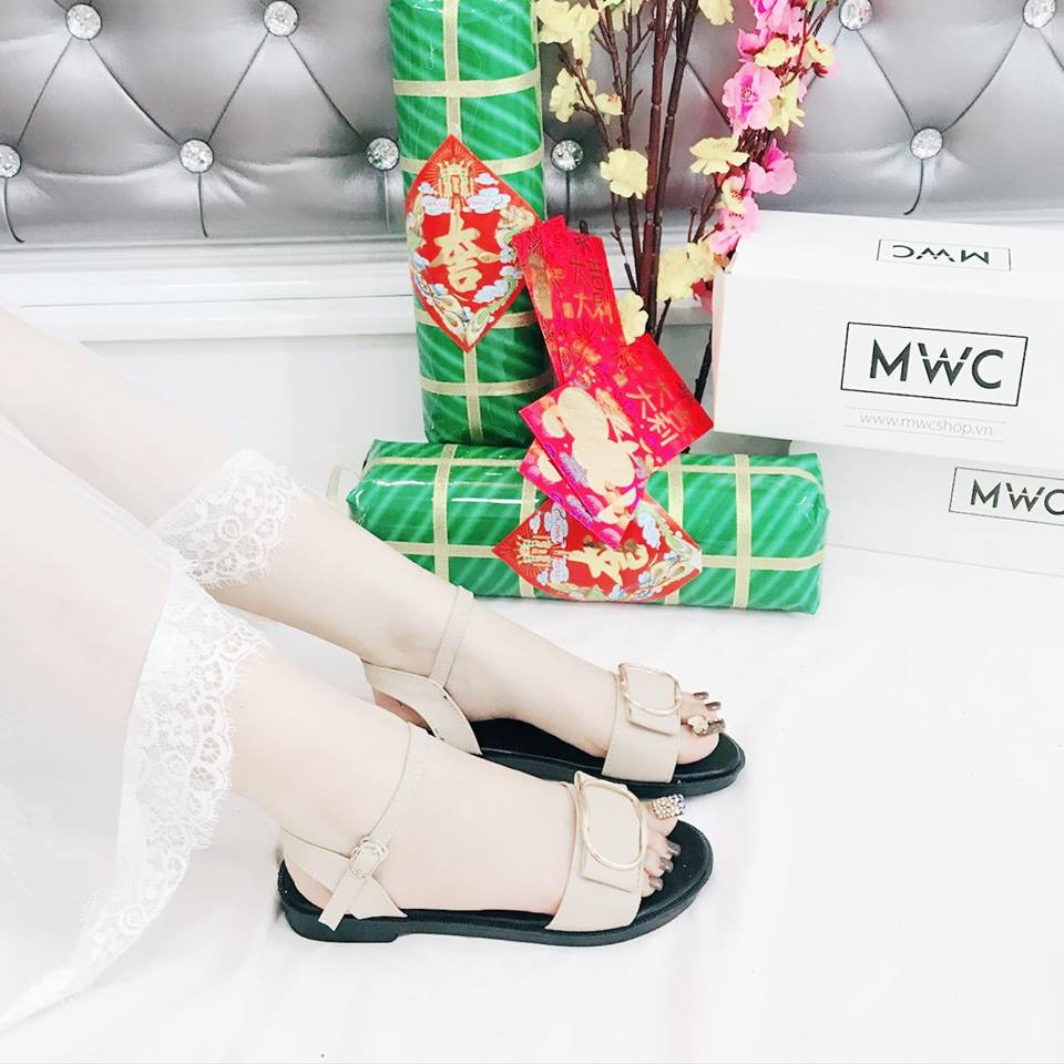 Giày sandal nữ MWC NUSD- 2581 - KEM