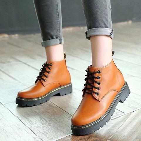 Giày boot nữ MWC NUBO- 4006 - NÂU