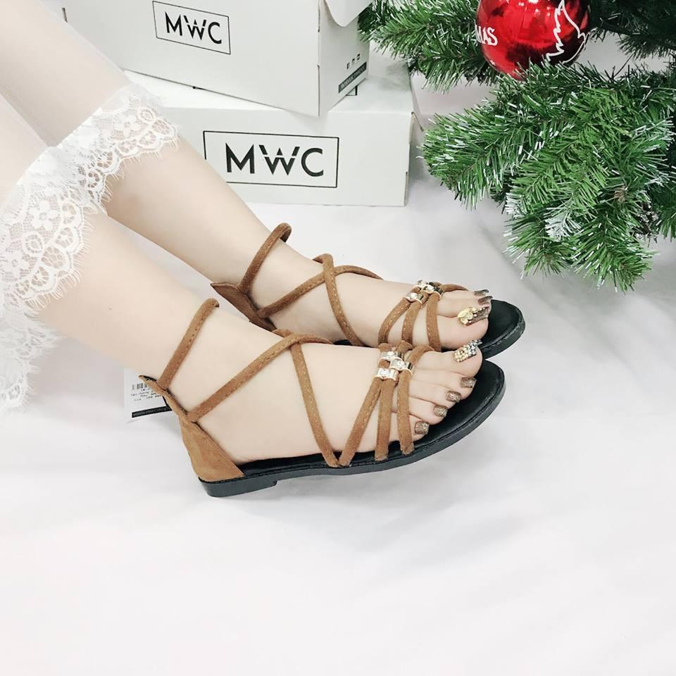 Giày sandal nữ MWC NUSD- 2576 - NÂU