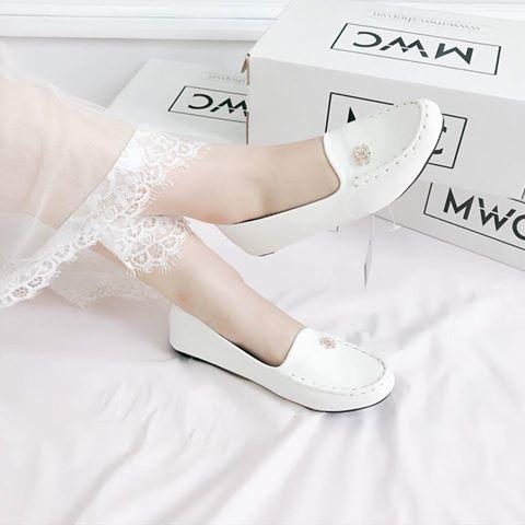 Giày búp bê MWC NUBB- 2073 - TRẮNG