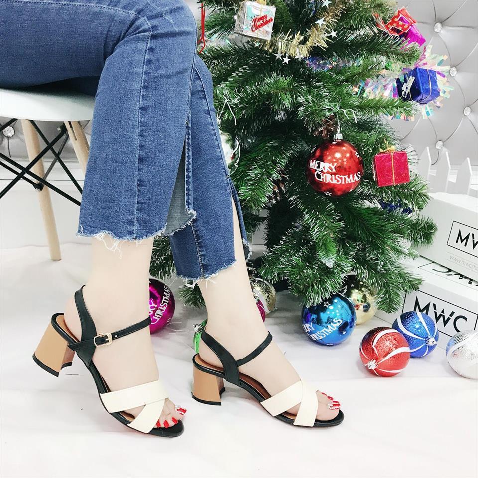 Giày cao gót MWC NUCG- 3585 - KEM