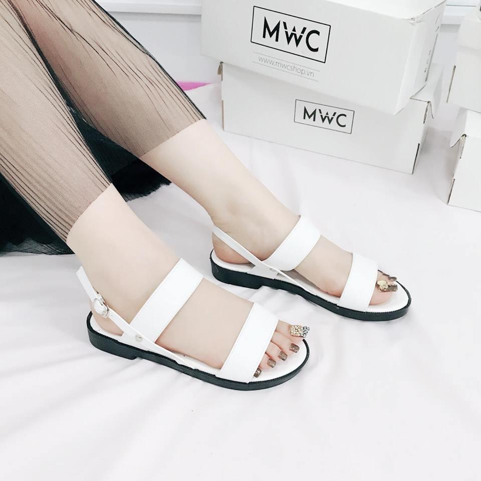 Giày sandal nữ MWC NUSD- 2580 - TRẮNG