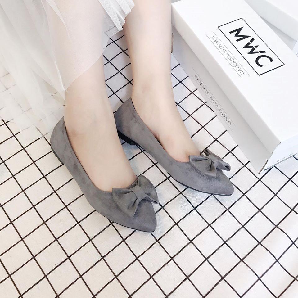 Giày búp bê MWC NUBB- 2026 - xám