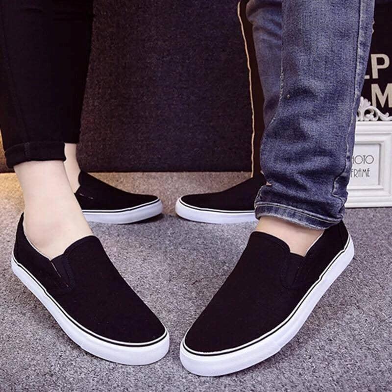 Giày Slipon nữ MWC NUSL- 1508 - ĐEN