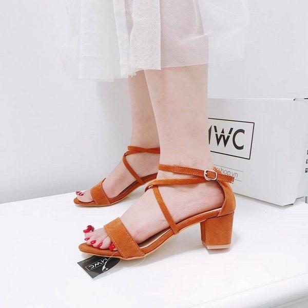 Giày cao gót MWC NUCG- 3538 - NÂU