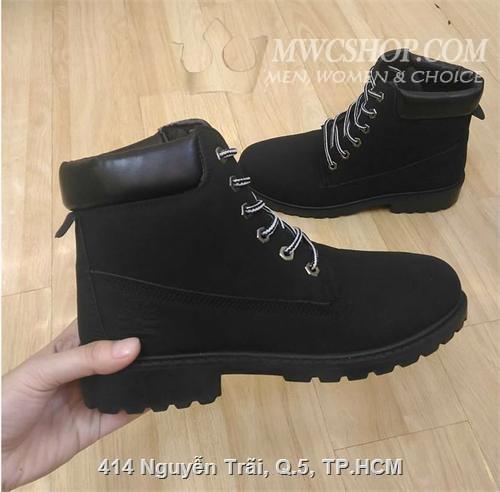 Giày boot nam MWC NABO- 8012 - ĐEN
