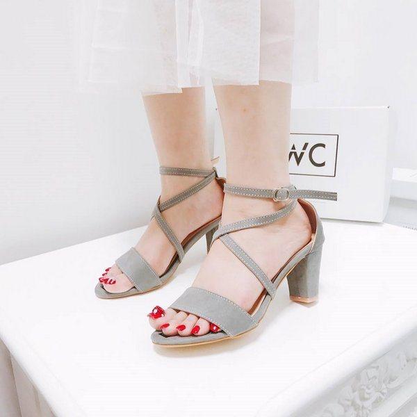 Giày cao gót MWC NUCG- 3535 - XÁM