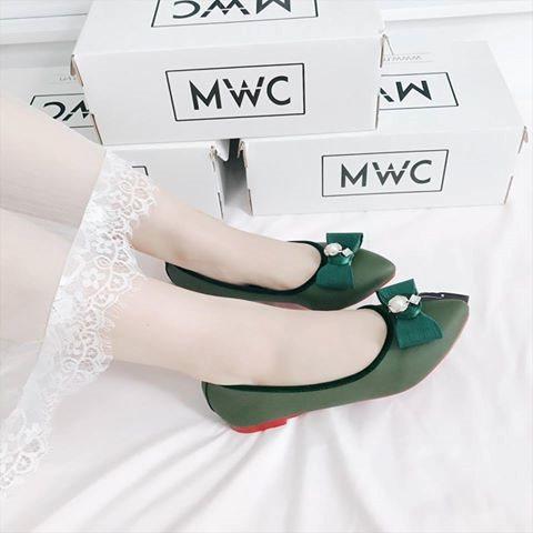 Giày búp bê MWC NUBB- 2060 - XANH