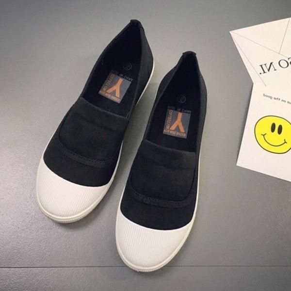 Giày Slipon nữ MWC NUSL- 1513 - ĐEN