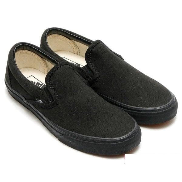 Giày Slipon nữ MWC NUSL- 1503 - FULL ĐEN
