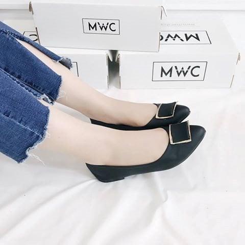 Giày búp bê MWC NUBB- 2065 - ĐEN