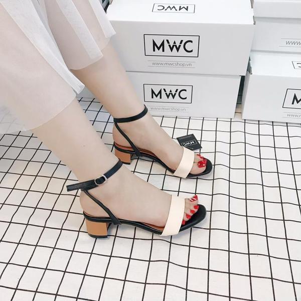 Giày cao gót MWC NUCG- 3503 - KEM