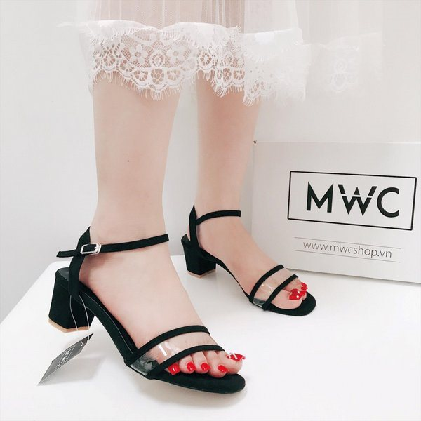 Giày cao gót MWC NUCG- 3534 - ĐEN