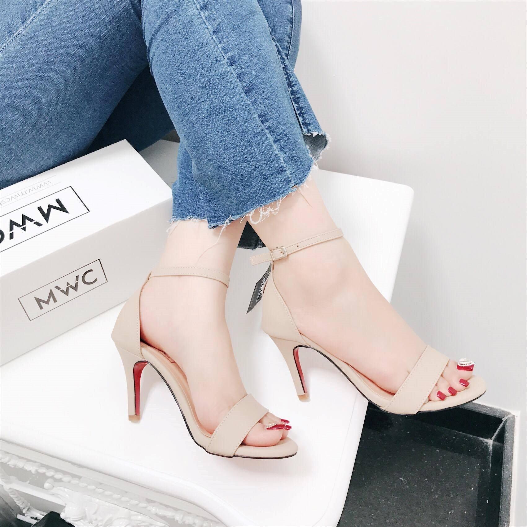 Giày cao gót MWC NUCG- 3552 - KEM