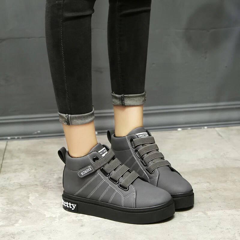 Giày boot nữ MWC NUBO- 4013 - XÁM