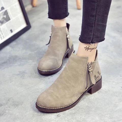 Giày boot nữ MWC NUBO- 4002 - XANH