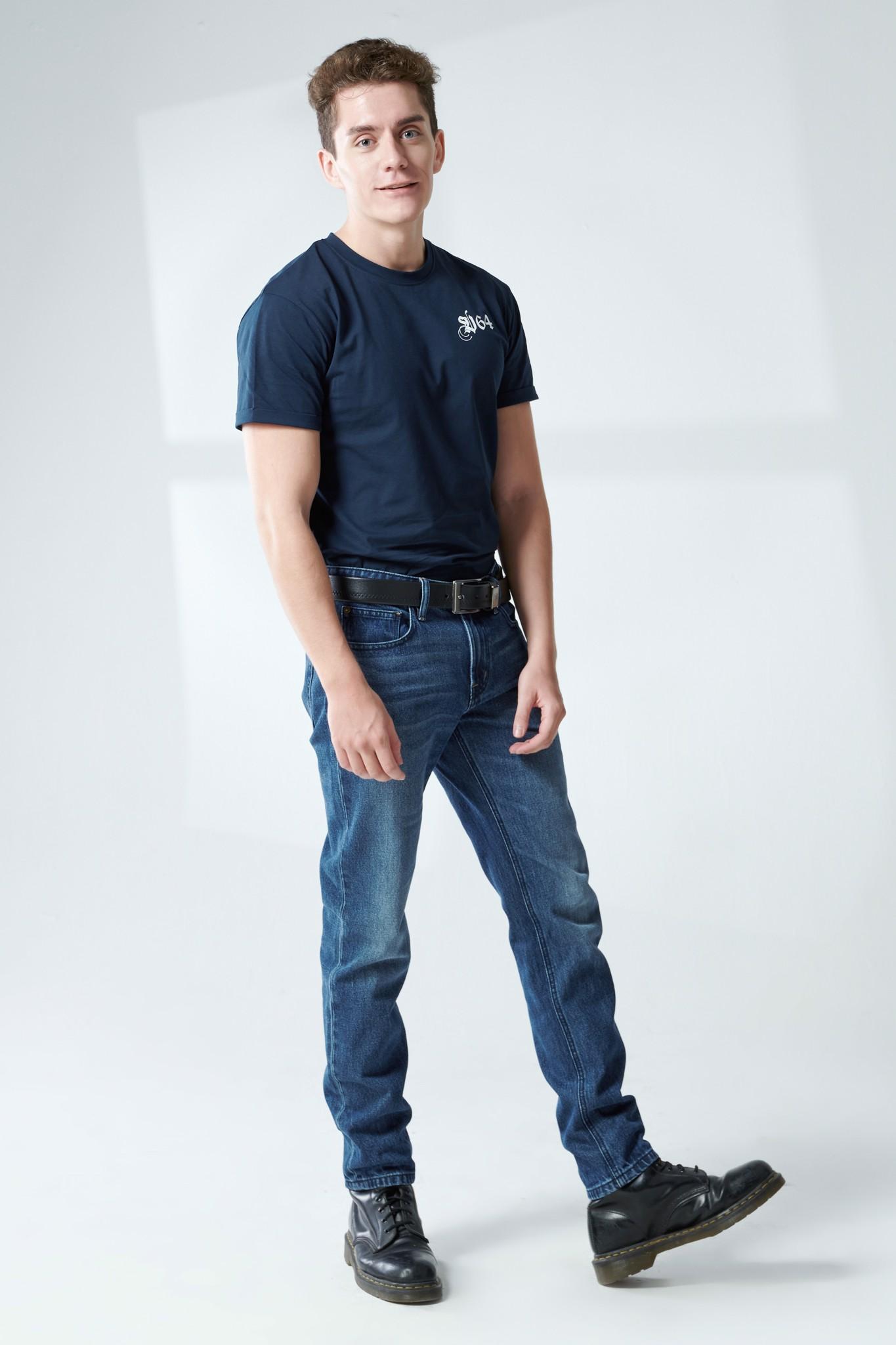 Quần jeans nam dáng straight - 220MD4083B1970